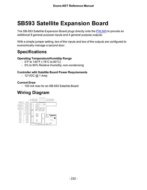 Satellite Expansion Board Specifications Wiring
