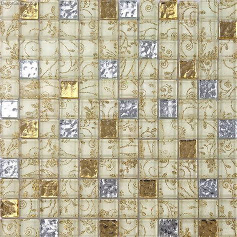 glass mosaic tiles flower nailed pattern crystal floor