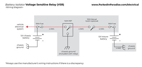Magic 12 Volt Relay Wire Diagram by How To Install A Battery Isolator In Your Conversion