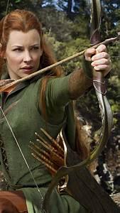 Wallpaper Evangeline Lilly, actress, Hobbit, arrow, elf