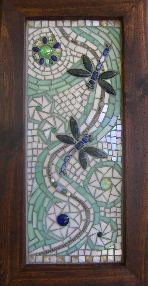 dragonflies mosaic design wings