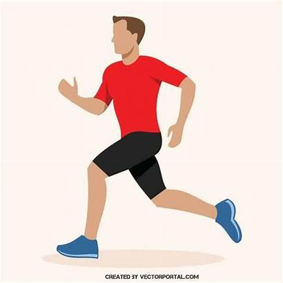 Running Runner Clipart Marathon Cartoon Person Clip