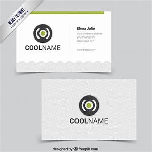 Business card with flat design logo vector free download for Free logos for business cards