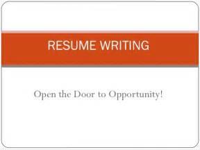 preparation of resume ppt resume writing ppt presentation