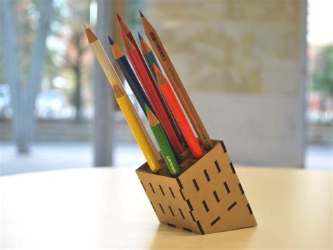 mdf pencil stand laser cut  file   axisco