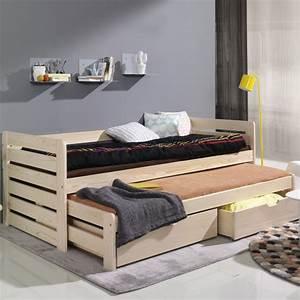Lits D Appoint : lit enfant thomas avec lit d 39 appoint couleur pin www ~ Premium-room.com Idées de Décoration