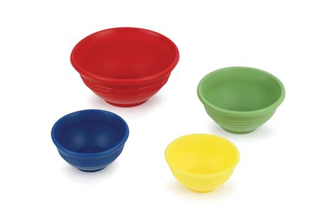 le creuset silicone silicone prep bowl set  piece multi