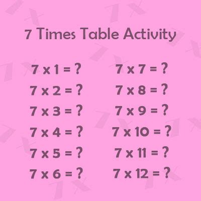 times table activity  year  multiplication tables