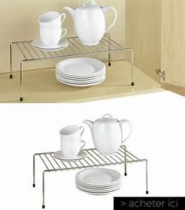 Etagere De Placard : 23 objets gain de place pour optimiser l 39 espace d 39 une petite cuisine ~ Melissatoandfro.com Idées de Décoration