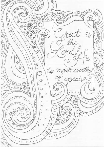 Coloring Pages Worship Praise Rock Lord Adult