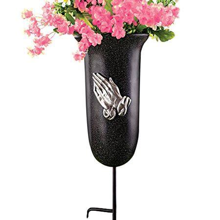 walmart flower vases outdoor memorial flower vase with stake walmart