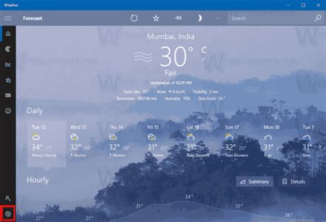 weather app windows temperature fahrenheit icon settings change celsius reset