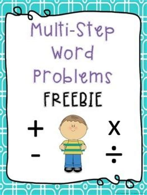 Math Word Problems 4th Grade Multi Step  Addition And Subtraction Unit A Freebie Ashleigh S