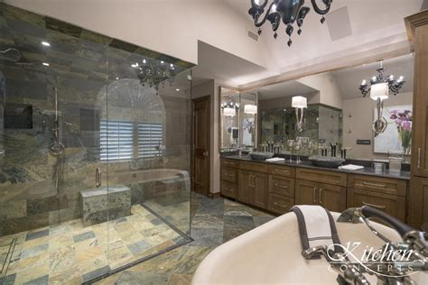 Tub Shower Remodel by Large Bathroom Remodel With Classic Tub And Tiled
