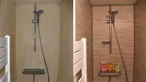 Plaque Etanche Douche : posez facilement un rev tement pvc en cabine de douche ~ Zukunftsfamilie.com Idées de Décoration