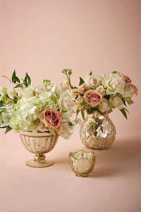 gold mercury glass compote best 25 gold vase centerpieces ideas on roses
