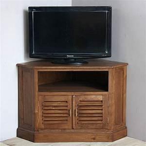 Meuble D Angle : meuble tv d 39 angle en teck pas cher en vente chez origin 39 s meubles ~ Teatrodelosmanantiales.com Idées de Décoration