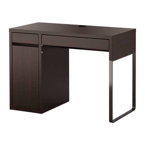 ikea bureau mike micke desk black brown ikea