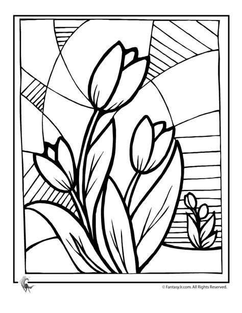 Flowers coloring pages | color printing | Flower