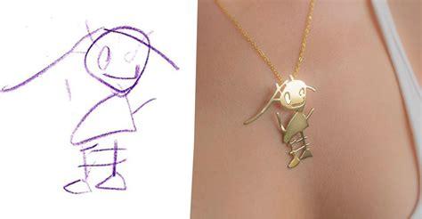 company transforms kids drawings  jewelry im