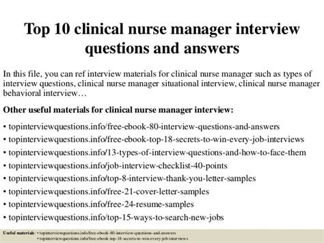 thank you card examples top 10 clinical nurse manager interview questions and answers