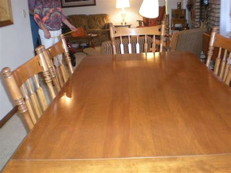 Ethan Allen Dining Room Table Leaf by Ethan Allen Hard Maple Dining Table Six Chairs 40 Years