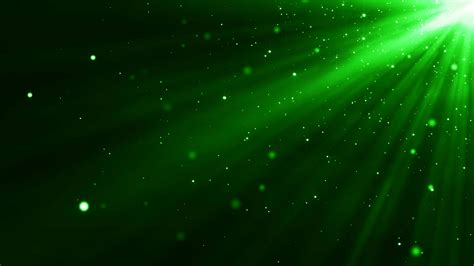 4k green particles light animation background