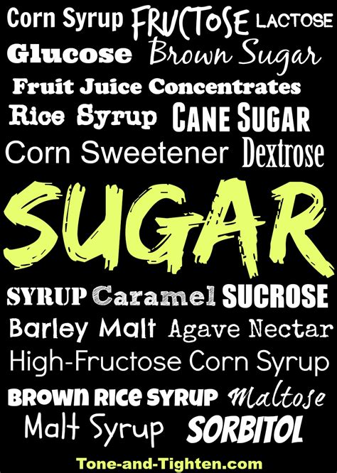 Other Names For by Common Names For Sugar Tone And Tighten