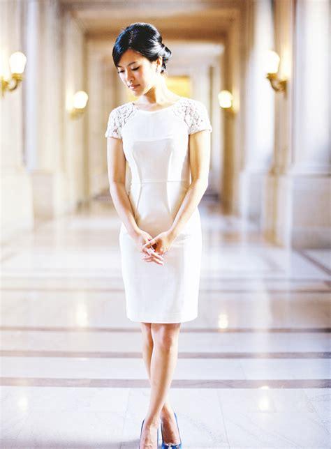 short casual bridal dress elizabeth anne designs