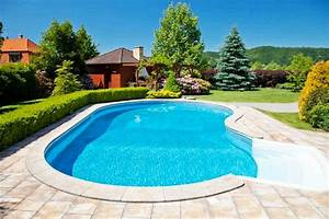 Swimming pool landscaping modern design homefurnitureorg for Swimming pool and landscape designs
