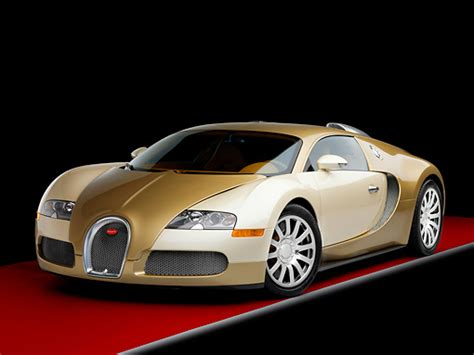 Bugatti Veyron White And Gold