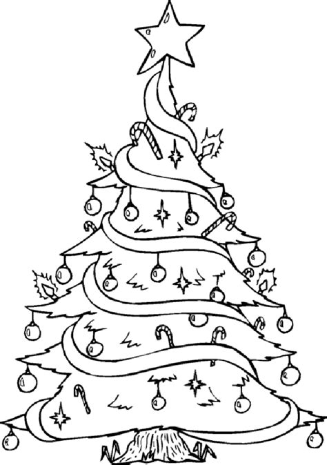 15 Christmas Tree Coloring Pages for Kids >> Disney
