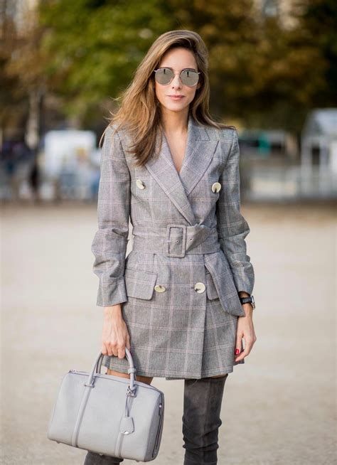 PLAID BLAZER DRESS | MCM BOSTON BAG - Blog - Alexandra Lapp
