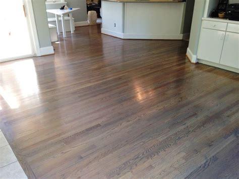 natural white oak hardwoods refinished   custom color