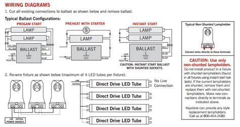 led light fixture wiring keystone led t8 retrofit light bulbs