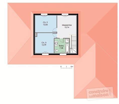 plan maison etage 2 chambres maison contemporaine 3 dé du plan de maison