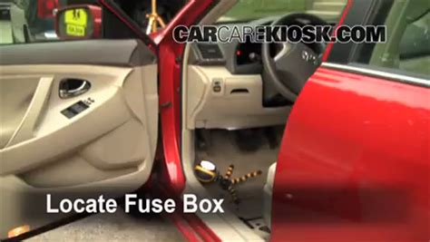 interior fuse box location   toyota camry  toyota camry le   cyl