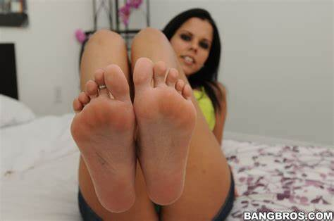 Rubs Only Slammed Diamond Girl Fingered Pole With Her Gorgeous Foot Only