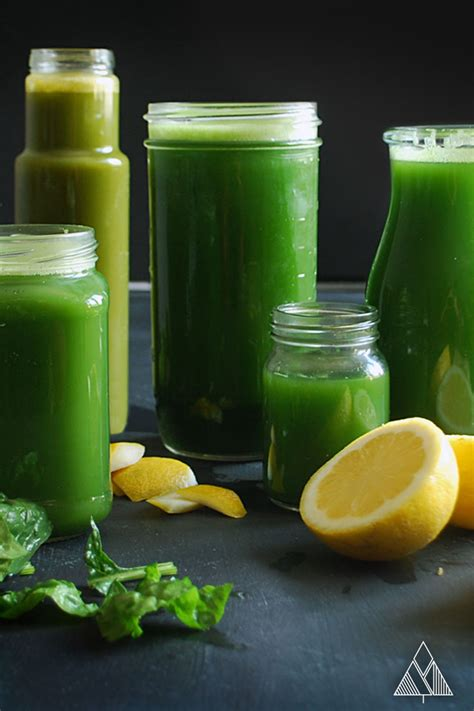 5 green juice recipes the little pine