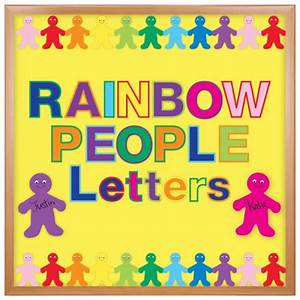cut out bulletin board letters in rainbow colors hygloss With letter cutter for bulletin boards