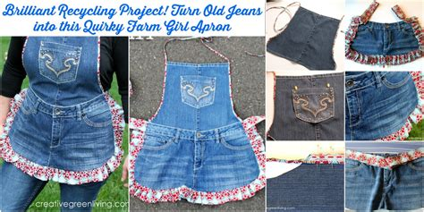 brilliant recycling project turn  jeans