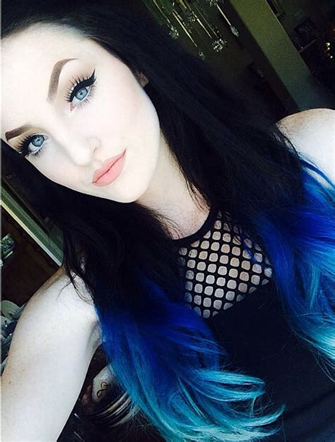 How To Dye Your Ideal Blue Ombre Hair Color For 2015
