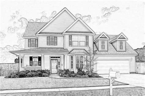 Sketch House Pencil Drawings