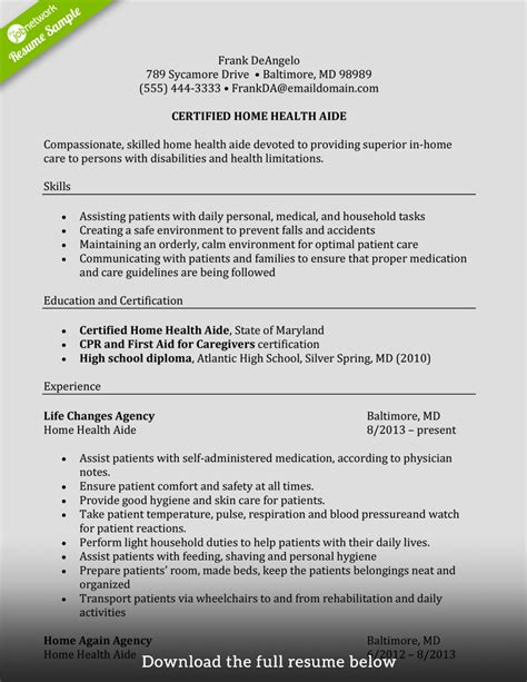 Caregiver Resume by How To Write A Caregiver Resume Exles Included