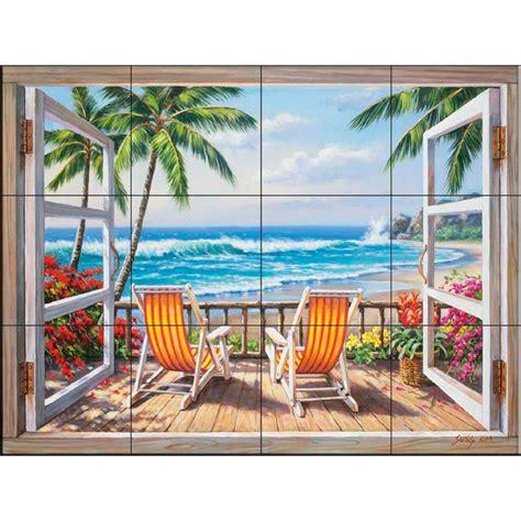 tile mural store tropical terrace