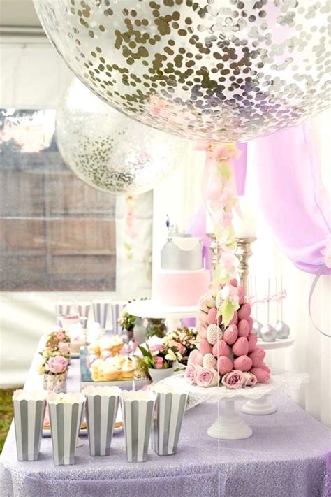 karas party ideas elegant purple princess birthday party