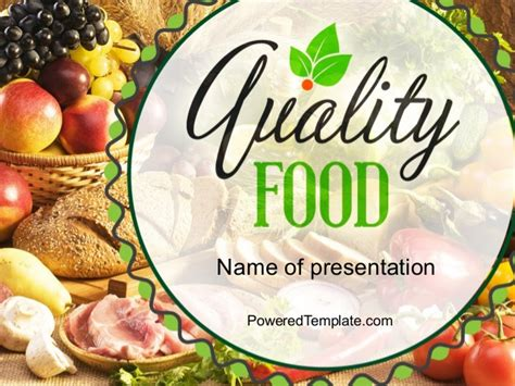 quality food powerpoint template  poweredtemplatecom