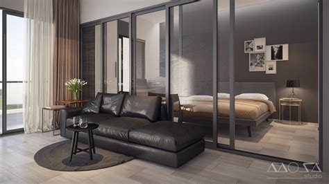Modern Studio Apartments With Glass-walled Bedrooms