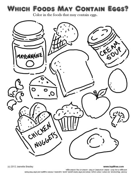 cuisine color grain food coloring pages