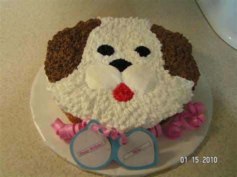 puppy dog cake   finished  cake    year